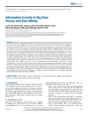 Paper 7 - Information Security in Big Data