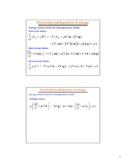 C7-Nonisothermal Equations of change