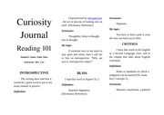 Curiosity Journal