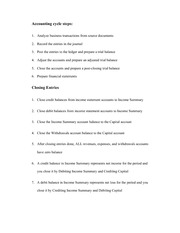Accounting cycle steps can closing entries notes