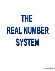 real numbers.pps