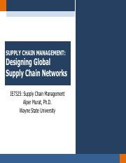 Chapter 6 - Designing Global Supply Chain Networks