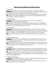 Most Common Mistakes in Student Essays.doc