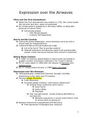 Expression over the Airwaves