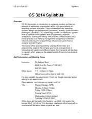 CS3214-Syllabus-Fall11