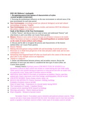 DHE462 History of the Near Environment II Study Guide