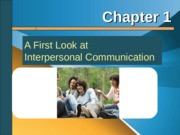 Interpersonal chapter 1