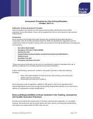 SfH Assessment Principles for First Aid Qualifications V4 FINAL 20-08-13.doc