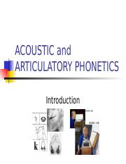 ACOUSTIC and ARTICULATORY PHONETICS(2)