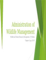 Administration of Wildlife Management.pptx