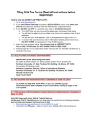 Filing 2014 Tax Forms Instructions