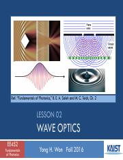Lesson_02_2016f_Wave Optics