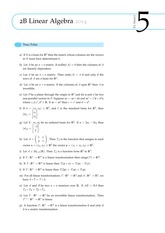 2B Linear Algebra Questions from Exercise Sheet 5