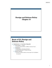 Ch 18 Foreign and Defense Policy