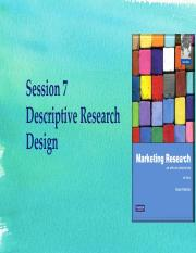 Updated session 7 - Descriptive research design.pdf