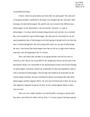 Group Reflection Paper