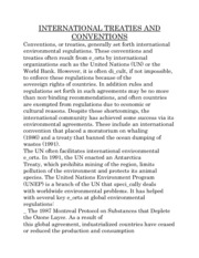 INTERNATIONAL TREATIES AND CONVENTIONS