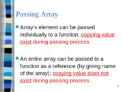 Module 11 - Passing Array to Functions
