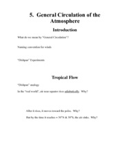 General Circulation of the Atmosphere Notes