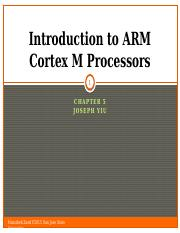 Ch 5-part 1 Introduction to ARM Cortex M Processors