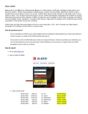 Aleks quick start up guide chem 1311 f15 what is aleks assessment this is the end of the preview sign up to access the rest of the document fandeluxe Choice Image