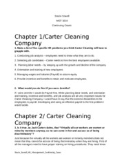 carter cleaning company chapter 5 Chapter 5 employee testing and selectioncases and exercisesexperiential exercise: the reference check (page 208)1 what are the most important issues raised by this inquiry  carter cleaning company (page 210)jennifer and her father are considering methods for screening applicants for their drycleaning business in particular, the carter.