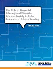 The Role of Financial Literacy and Financial Adviser Anxiety in Older Australians' Advice Seeking.pd