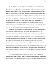 Jazz concert review paper