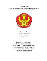 Print Docx Makalah Kewirausahaan Dan Pengembangan Diri Dikerjakan Oleh Malikul Mulki F Fakultas Teknik Jurusan Teknik Sipil S1 Universitas Tadulako Course Hero