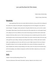 Lars and the Real Girl Film Notes