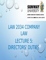 Lecture 5 - Directors Duties(CA 2016 Part 2).pptx