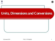 PHY1000-Units Dimensions and Conversions-Spring-2015