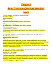 Chapter 4 - Swap Contracts  - Questions Solutions