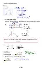 2.3 Part 2  Properties of Triangles