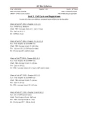 AP BIO Syllabus 12th Grade