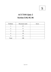 Quiz 2 Past Paper and Solution