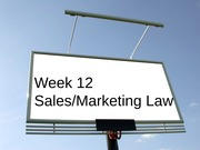 Wk12_Sales and Marketing Law