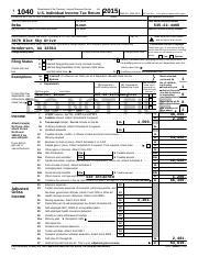 James Hunt 2015 Tax Return - 2015 Form 1040-V Department of the ...
