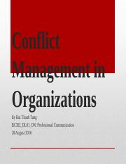 BuiThanhTung_Conflict Management in organizations.pptx