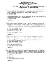 EC102 - Problem Set 3 - Answer Key