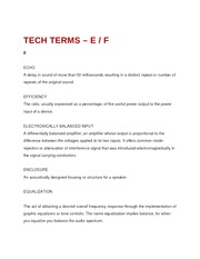 Tech Terms - E and F