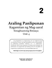 AP 2 LM S Binisaya Unit 4 pdf - 2 Araling Panlipunan