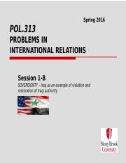 Pol.313 - Sp.2016 - Session 2-A