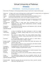 Mcm301 Handouts Pdf
