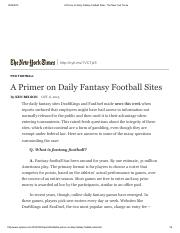 A Primer on Daily Fantasy Football Sites - The New York Times.pdf