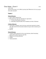 Class Notes_HUEC3020_Exam2