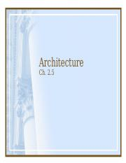 AD 255 Ch. 2.5 Architecture.ppt