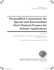 Prequalified Connections for steel moment frames