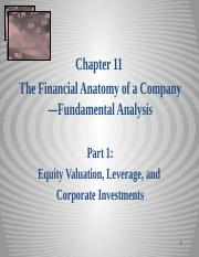 Equity Chapter 11 Part 1 Fin Anatomy of firm_Valuation 2014 sj