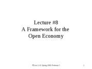 a framework for the open economy